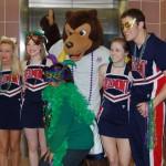 Belmont Cheerleaders, Mascot and Rosetta Mason, VA Dir. of Vol. Services