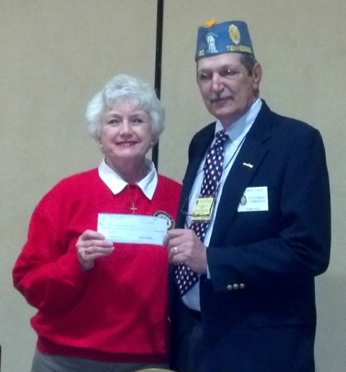 TN Fisher House President Andrea Lawrence, and Commander Ed. Wallace