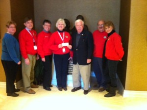 Having taken hundreds of WWII veterans to their Memorial in Washington, The Music City Honor Flights are being discontinued due to lack of applications and donations of funds.  Pictured are TN Fisher House Board Members Felicia Hix, Keith Lawrence, Mary Lou French, John Furgess (TN Fisher House Board member and Music City Honor Flight Chairman), Phil Barnett and Anne Kyle.