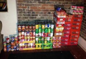 Food items donated by MTSU Kappa Sigma Fraternity