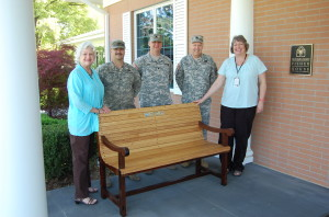 Andrea Lawrence, SSPC Clint Reid, SGT Chris Evans, COL. M. Dennis France, and House Manager Rebecca wood