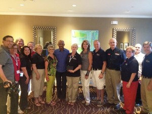 The Gang is all here!  TN Fisher House Board Members, Volunteers, House Manager, with Montel